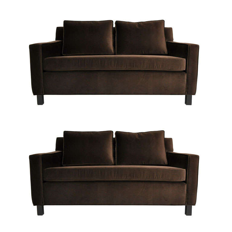 Dunbar Pair of Settee Sofas by Edward Wormley