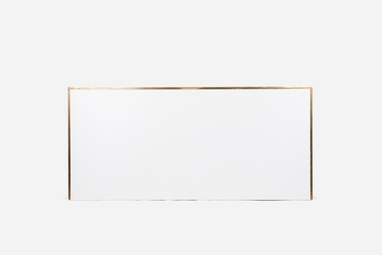 American Paul McCobb King-Size Brass Frame Headboard For Sale