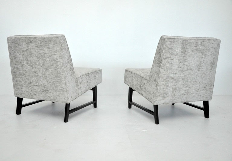 20th Century Dunbar Slipper Chairs, Edward Wormley For Sale
