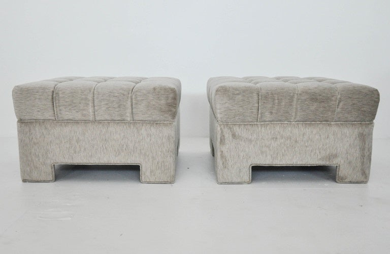 Milo Baughman Tufted Ottomans For Sale At 1stdibs
