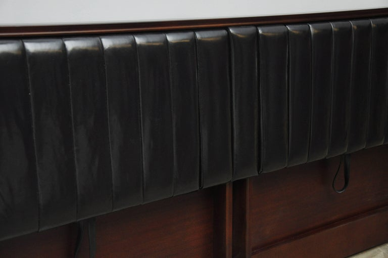 20th Century Dunbar King-Size Drop Arm Headboard, Edward Wormley For Sale