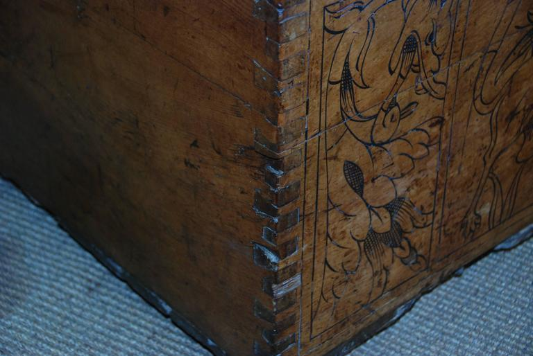 17th Century Carved Renaissance Portuguese Coffer For Sale 2