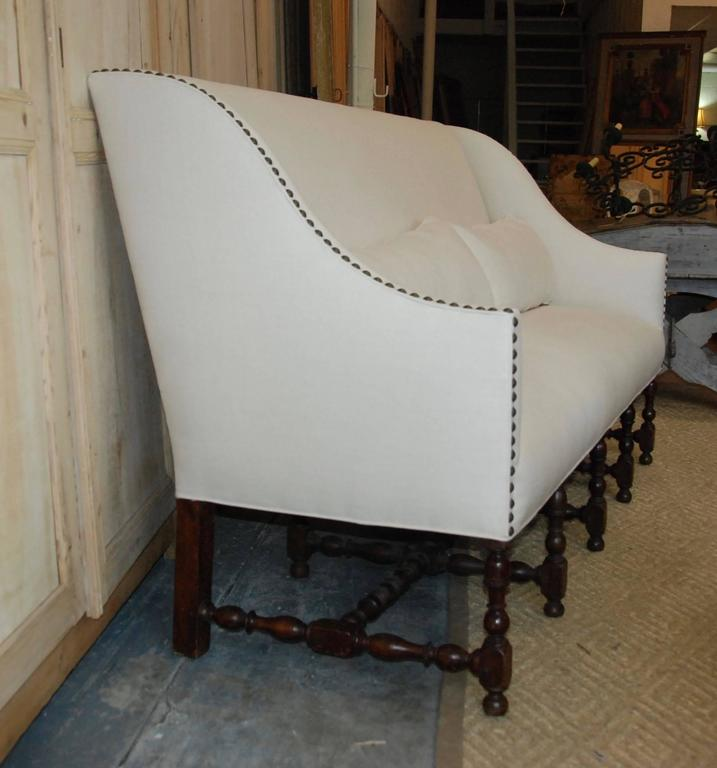 Louis XVI 18th Century French Walnut Sofa For Sale