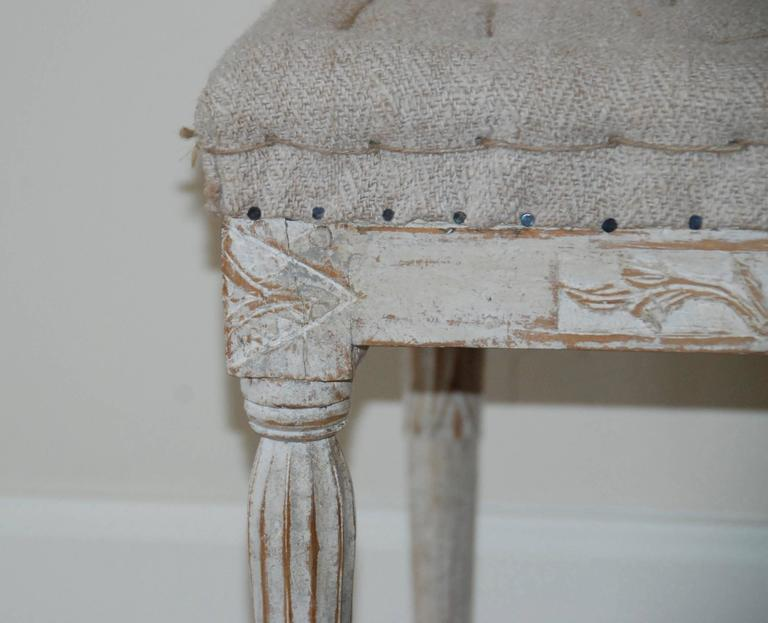 Signed Pair of Swedish Period Gustavian Stools For Sale 2