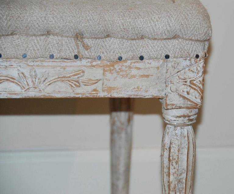 Signed Pair of Swedish Period Gustavian Stools For Sale 3
