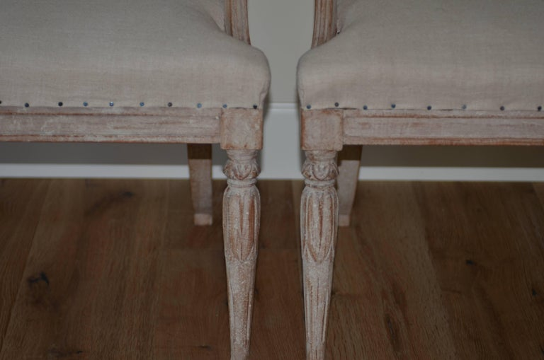 Pair of 19th Century Swedish Barrel Back Chairs In Excellent Condition For Sale In Encinitas, CA