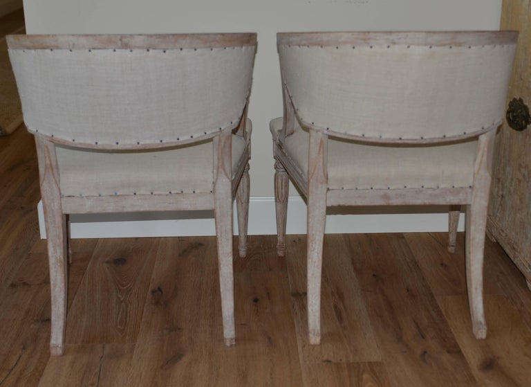 Pair of 19th Century Swedish Barrel Back Chairs For Sale 1