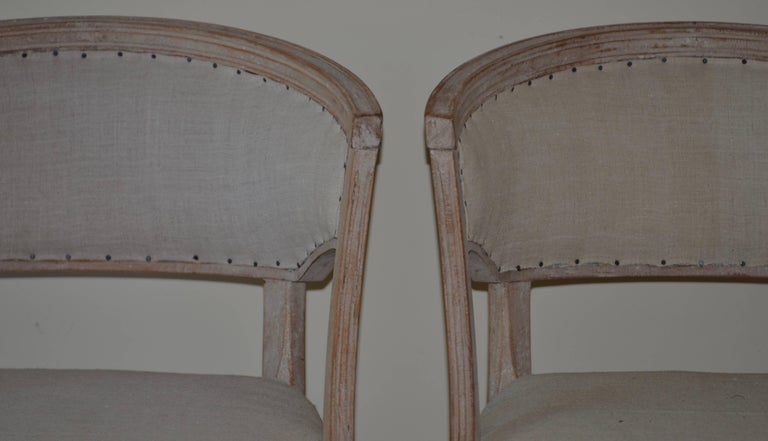 Pair of 19th Century Swedish Barrel Back Chairs For Sale 4