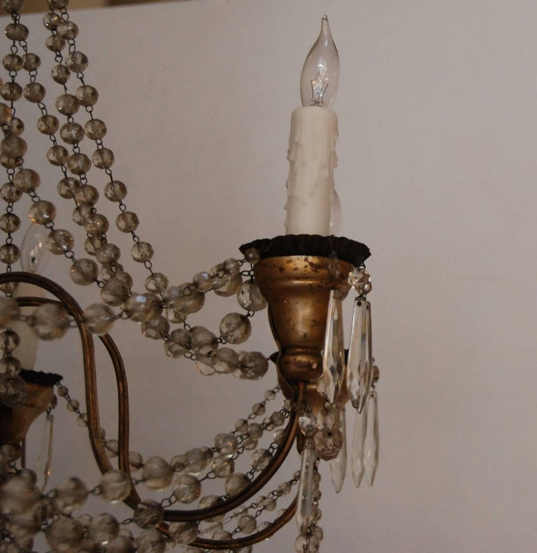 19th Century Italian Wood and Crystal Chandelier 5