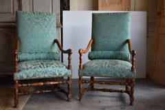 Pair of Early 19th Century French Fauteuil
