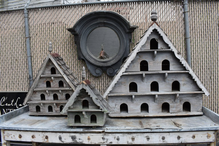 Large Vintage English Wooden Birdhouse For Sale 5
