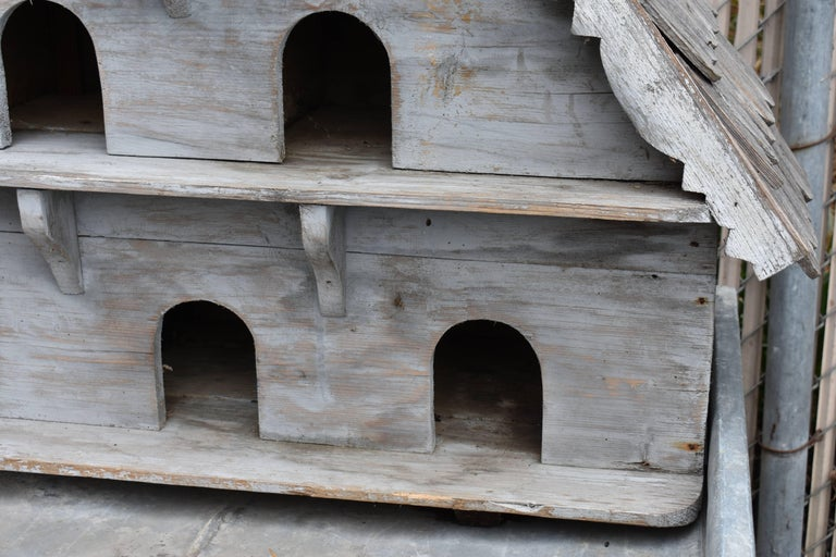 Large Vintage English Wooden Birdhouse For Sale 3