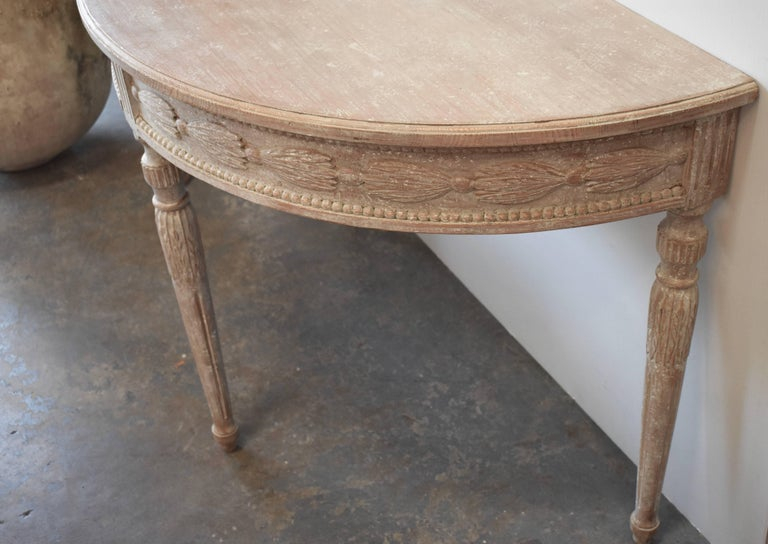 Pair of 19th Century Swedish Demilune Tables For Sale 4