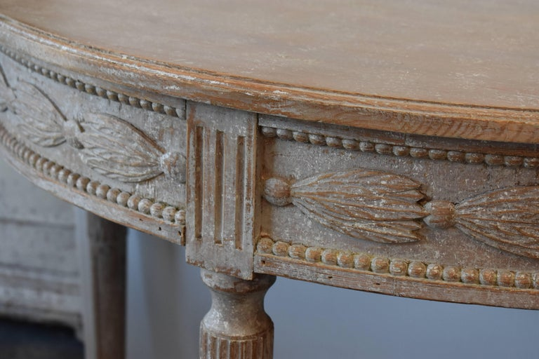 Pair of 19th Century Swedish Demilune Tables For Sale 2