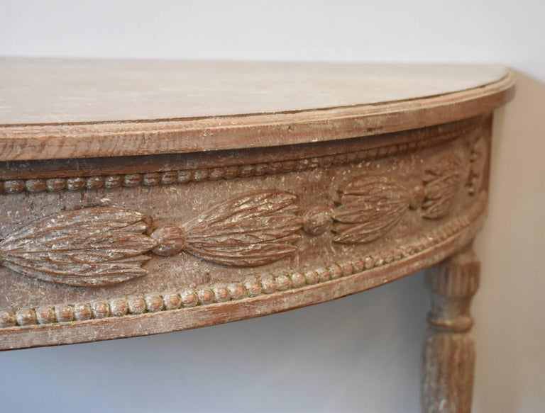 Pair of 19th Century Swedish Demilune Tables For Sale 9