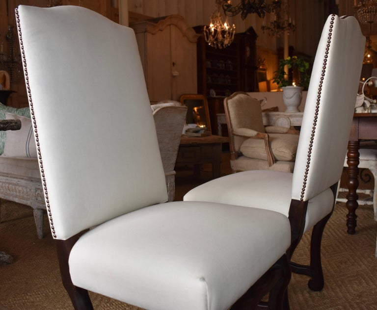 Set of Ten French Os de Mouton Dining Chairs For Sale 1
