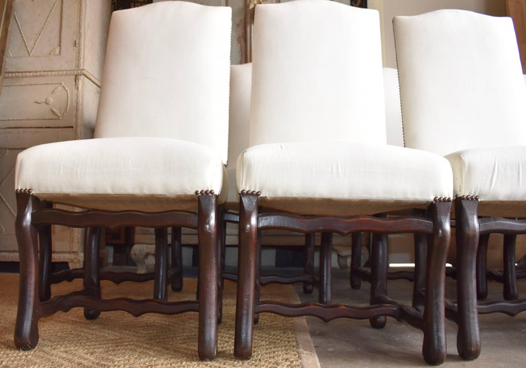 Set of Ten French Os de Mouton Dining Chairs For Sale 2