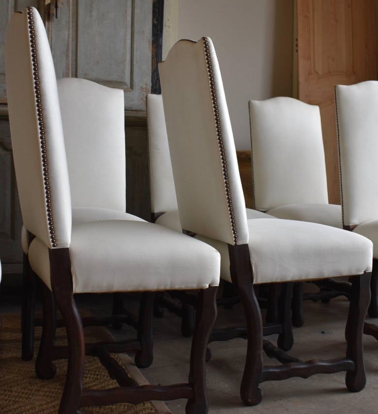 Set of Ten French Os de Mouton Dining Chairs For Sale 4