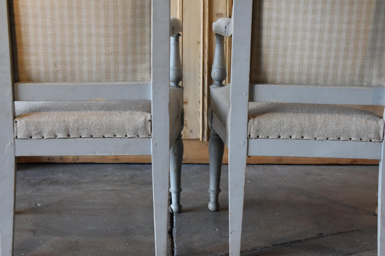 Pair of 18th Century French Directoire Bergère Chairs For Sale 7