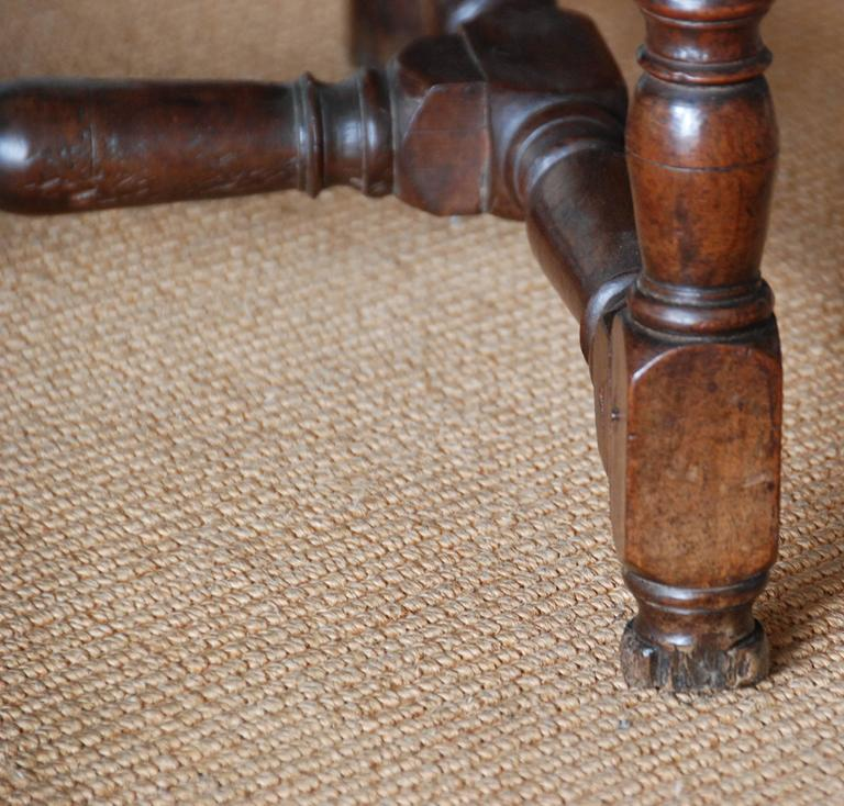 18th Century French Walnut High Back Fauteuil For Sale 1