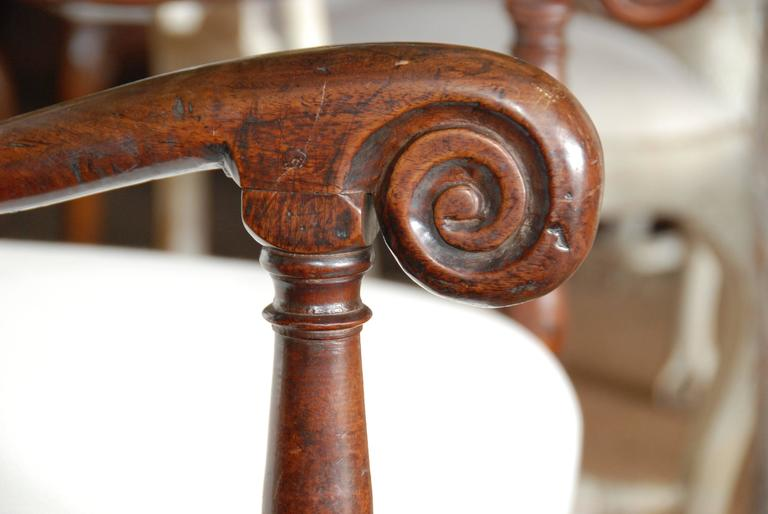 18th Century French Walnut High Back Fauteuil For Sale 3