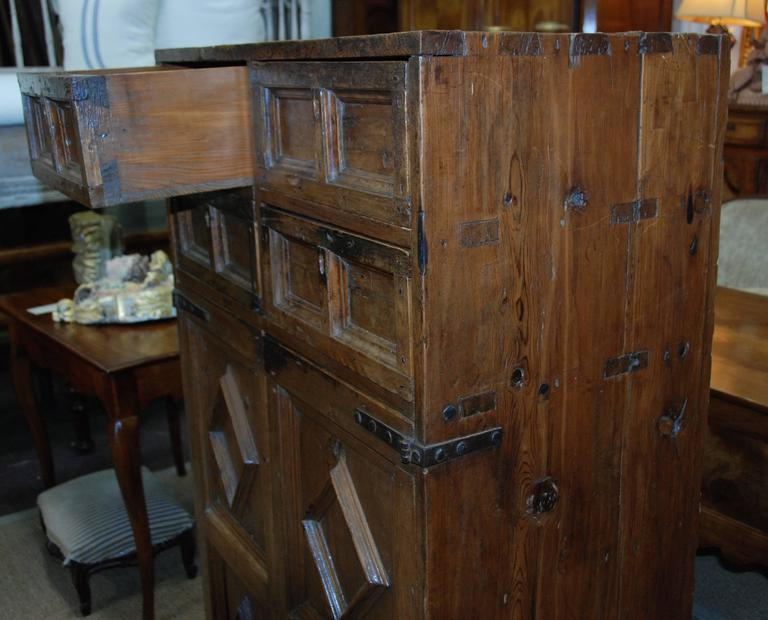 18th Century and Earlier 17th Century Spanish Chestnut Cupboard For Sale