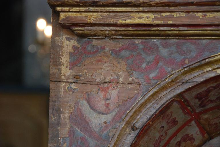 18th Century Spanish Polychromed Niche For Sale 1