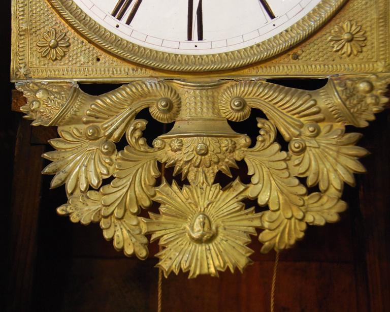 Early 19th Century French Empire Walnut Case Clock For Sale 1