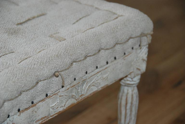 Signed Pair of Swedish Period Gustavian Stools For Sale 1