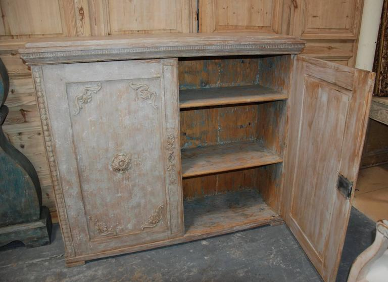 19th Century Swedish Carved Sideboard In Excellent Condition For Sale In Encinitas, CA
