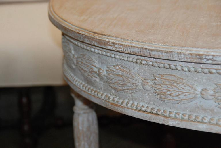 Pair of Swedish Carved Demilune Tables 5