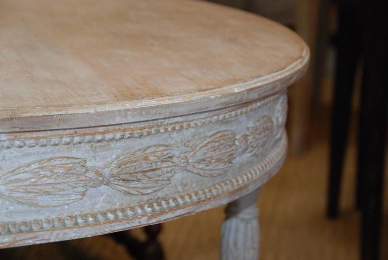 Pair of Swedish Carved Demilune Tables 6