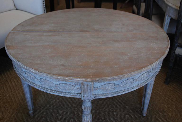 Pair of Swedish Carved Demilune Tables 7
