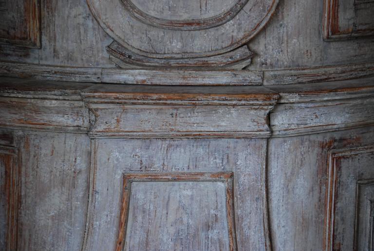 Gustavian 18th Century Swedish Demi lune Clock Cupboard For Sale