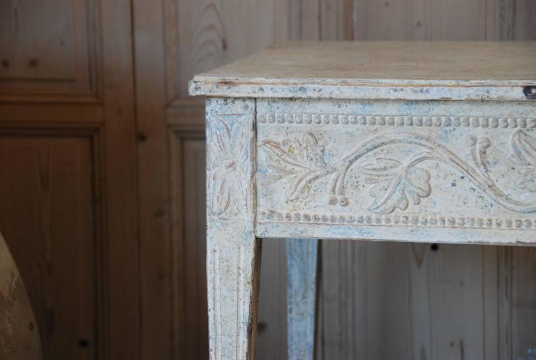 19th Century Swedish Carved Console Table In Excellent Condition For Sale In Encinitas, CA