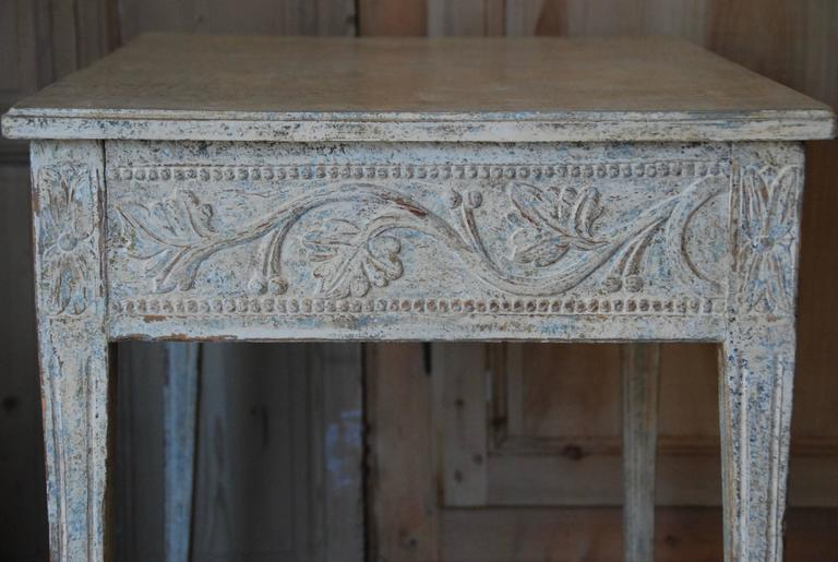 19th Century Swedish Carved Console Table For Sale 1