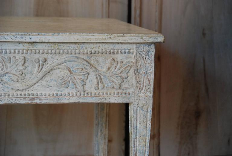 19th Century Swedish Carved Console Table For Sale 2