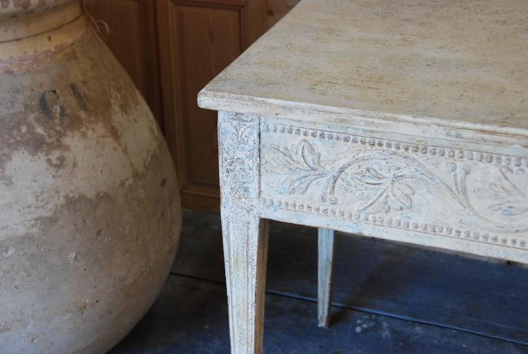 19th Century Swedish Carved Console Table For Sale 3