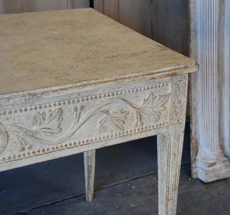 19th Century Swedish Carved Console Table For Sale 4