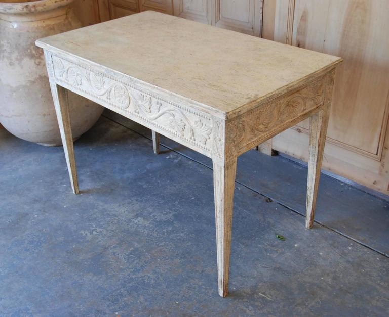 19th Century Swedish Carved Console Table For Sale 5