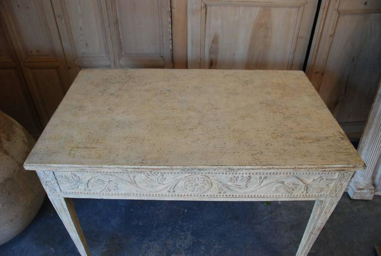 19th Century Swedish Carved Console Table For Sale 6