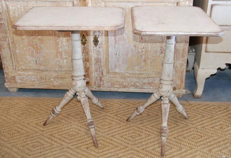 Pair of 19th Century Swedish Pedestal Tables For Sale 7