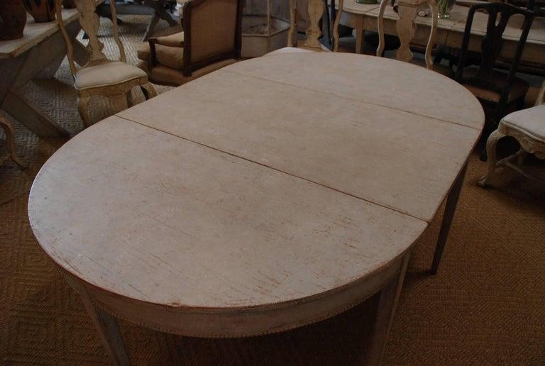 Swedish Gustavian Oval Dining Table 4