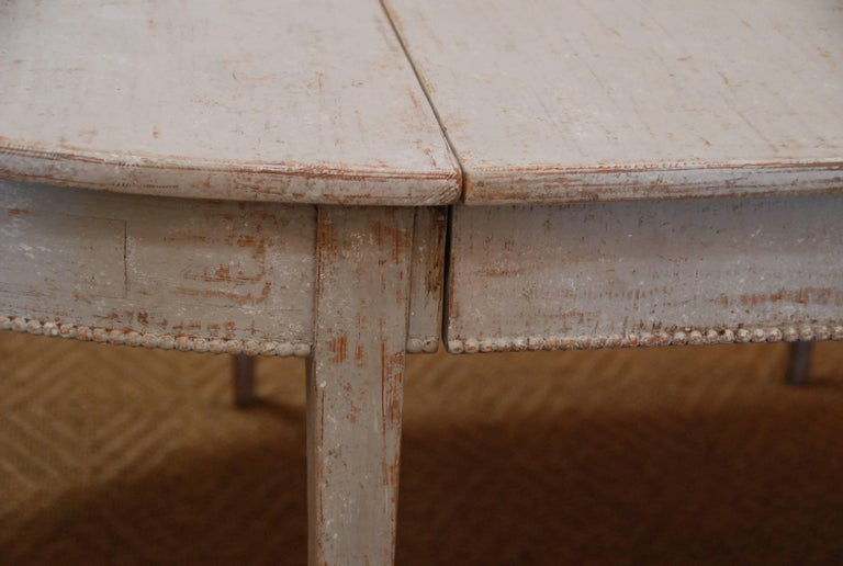 Pine Swedish Gustavian Oval Dining Table For Sale