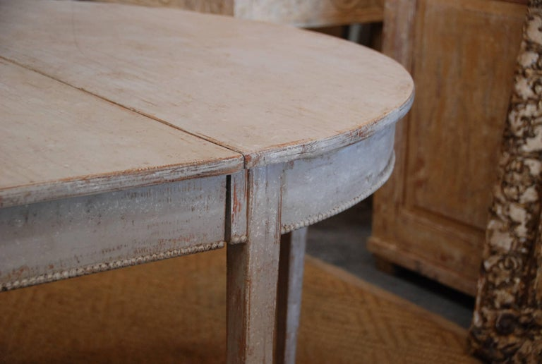 Swedish Gustavian Oval Dining Table For Sale 1