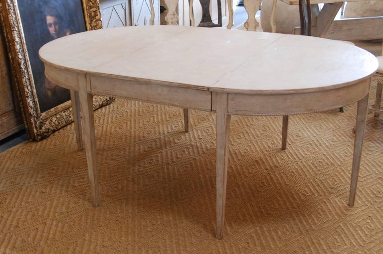Swedish Gustavian Oval Dining Table For Sale 2