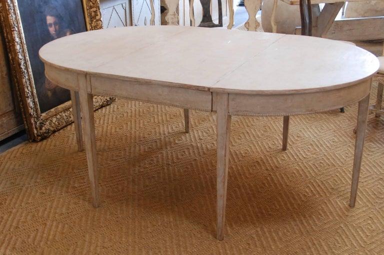 Swedish Gustavian Oval Dining Table 8