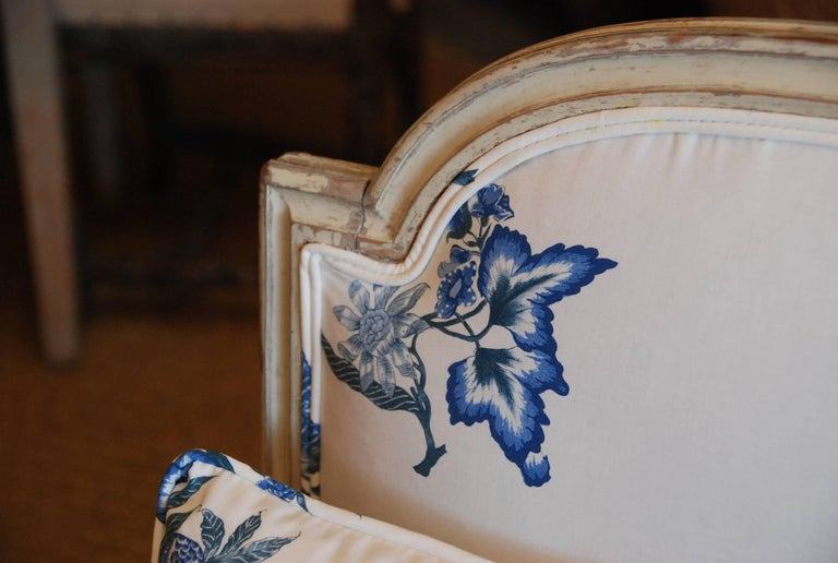 Early 19th Century French Painted Chaise For Sale 6