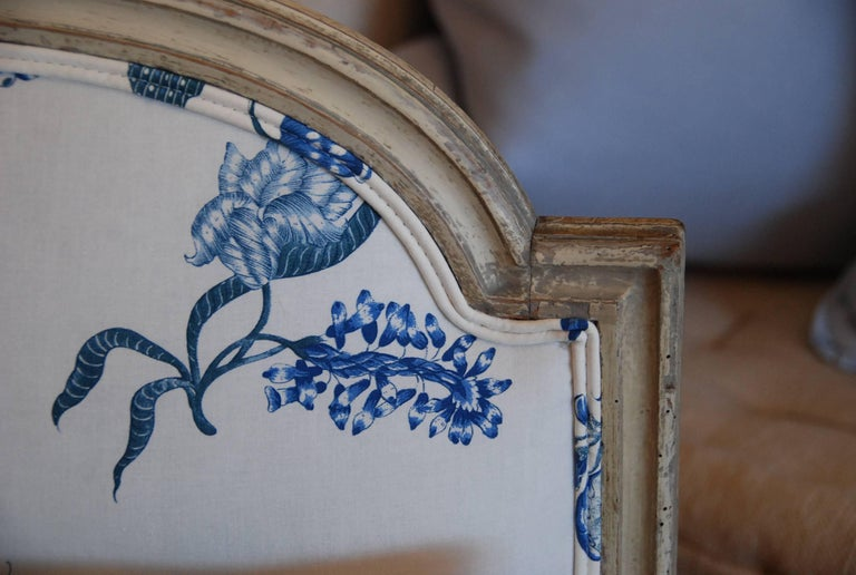 Early 19th Century French Painted Chaise For Sale 5