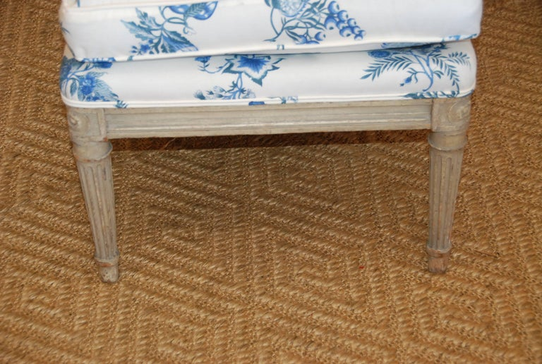 Early 19th Century French Painted Chaise For Sale 2